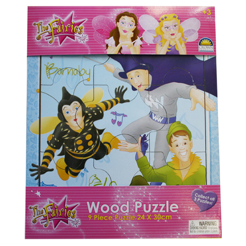 Wood Puzzle Elf, Wizzy & Barnaby