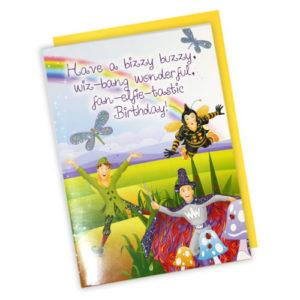 Birthday Card - Barnaby, Elf & Wizzy